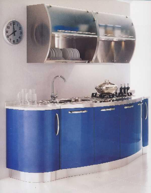Cucina 19 - Cucina moderna realizzata con anta bombata in finitura ...