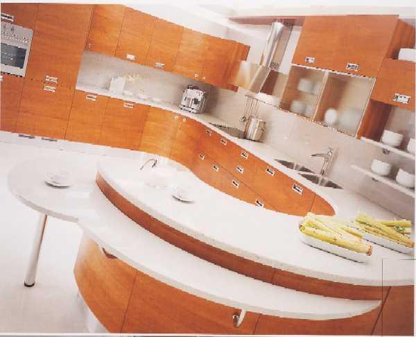 Cucina 20 cucina moderna con anta in ciliegio naturale for Cucina moderna in ciliegio