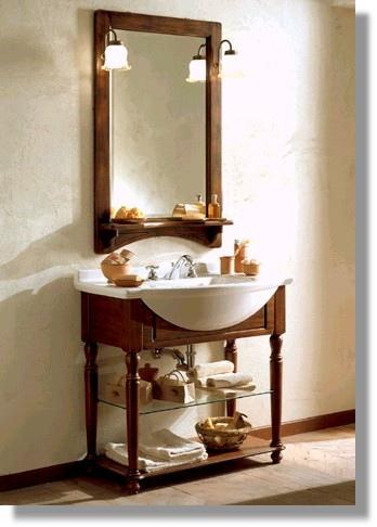Bagno 2 versione classica arte povera ante in for 2 piani letto 2 bagni