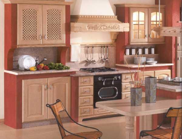 Cucina 10 - Cucina in pittura con ante in legno di decapè beige