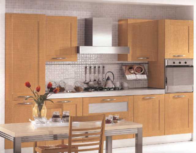 Cucina 4 - Cucina stile contemporaneo design con antine in rovere ...